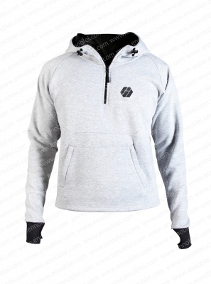 Ennoble-383 Mens Hoody Light Grey