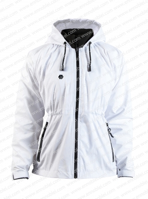 Ennoble-388 Ladies Windbreaker White