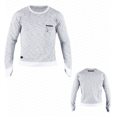 Ennoble-735 Mens Sweatshirt Melange Light Grey